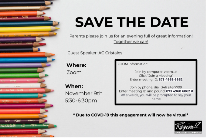 Virtual Parent Family Engagement Nov 9th