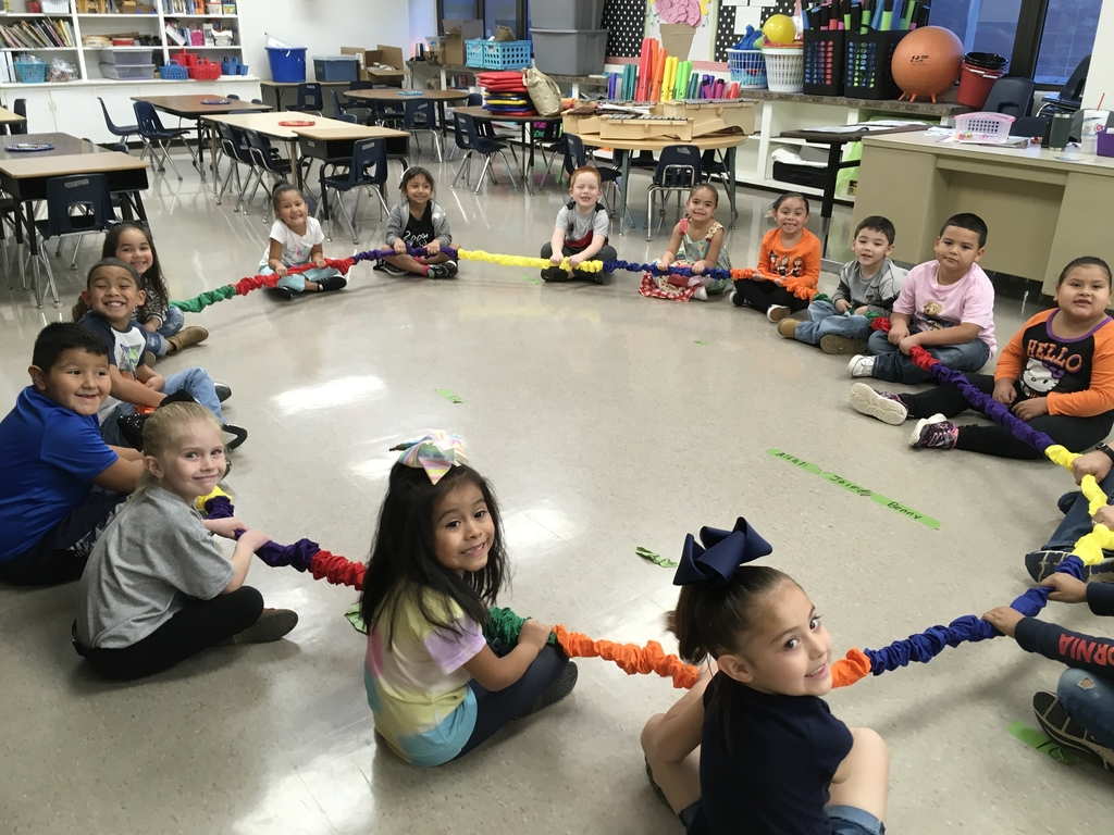 Students keeping the beat in fun ways in Dillman music class