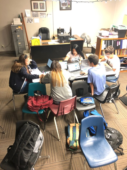 Professional Communications using their Chromebooks to work collaboratively