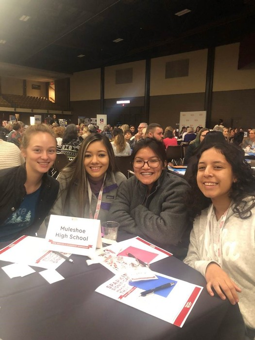 Student Community Action Club members attend the Volunteer Lubbock Symposium.