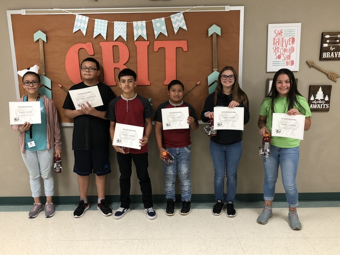 Watson JH August Students of the Month