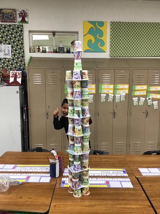 Ms. Herrell's cup tower.
