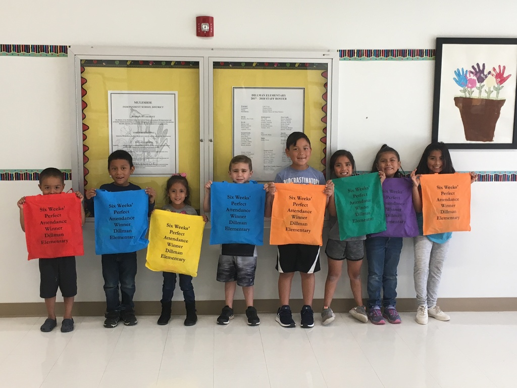 Six weeks Perfect Attendance winners