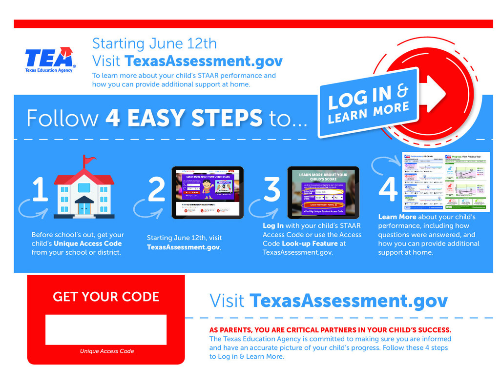Parents Can Access STAAR Scores TODAY