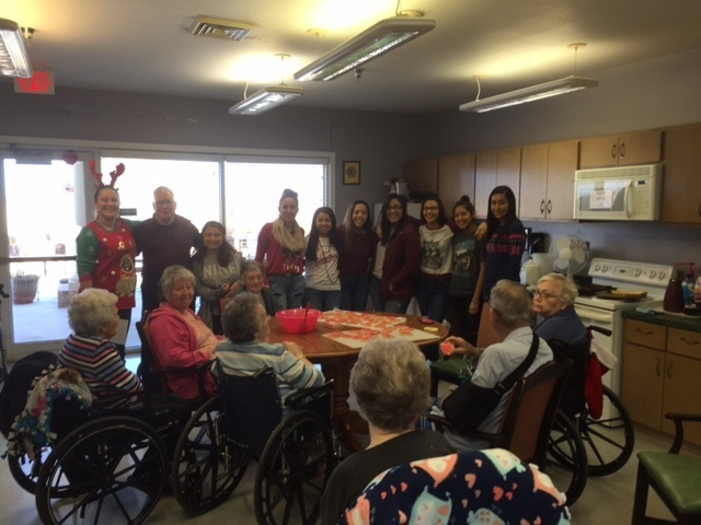 FCCLA spreading cheer at the Nursing Home!