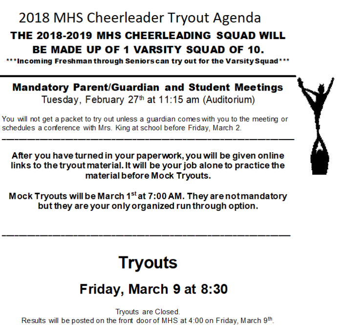MHS Tryout
